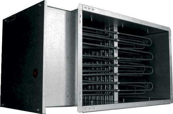 Электрические канальные нагреватели EKS 80x50/60-3f