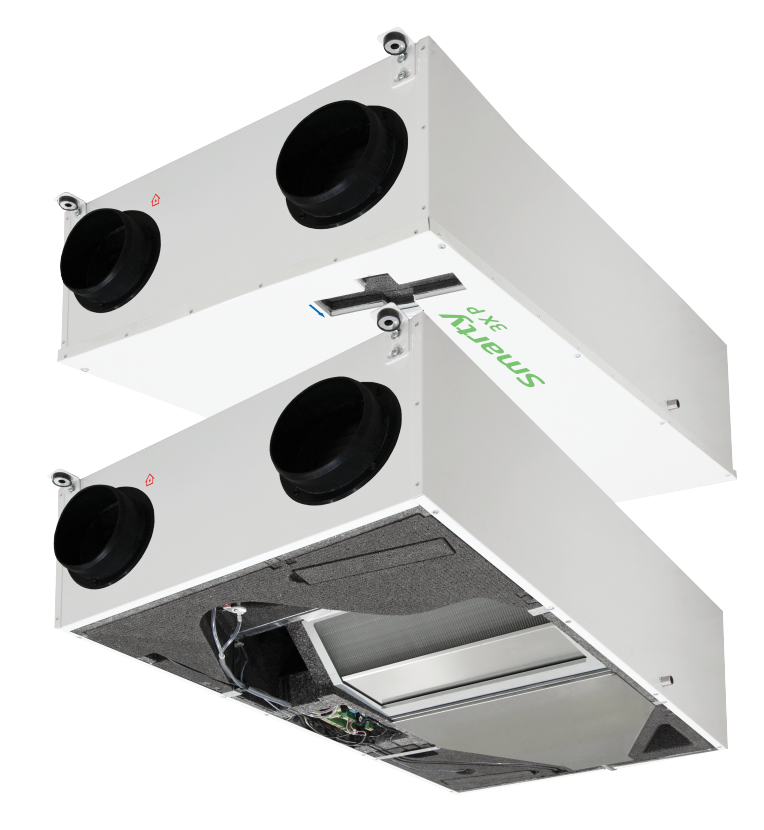 Компактные приточно-вытяжные установки с пластинчатым рекуператором (подвесное исполнение) SMARTY 4X P