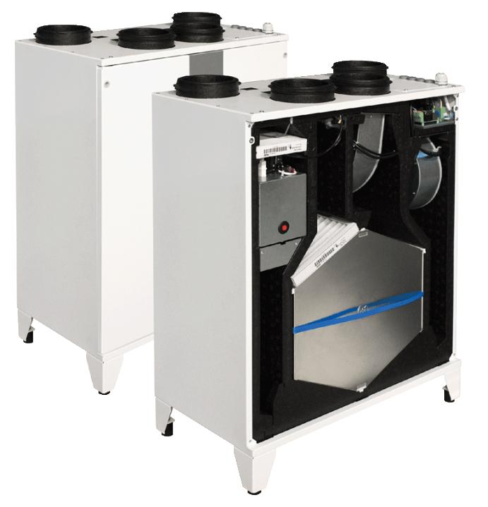 Компактные приточно-вытяжные установки с пластинчатым рекуператором (подвесное исполнение) SMARTY 3X VEL/VER 3.0