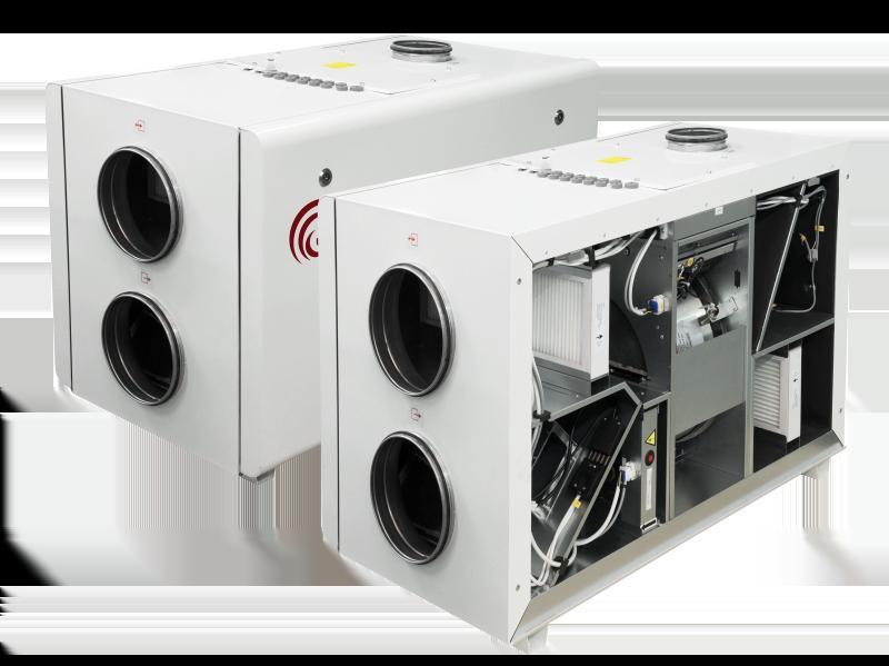 Компактные приточно-вытяжные установки с роторным рекуператором RIRS 1900 HE EKO 3.0