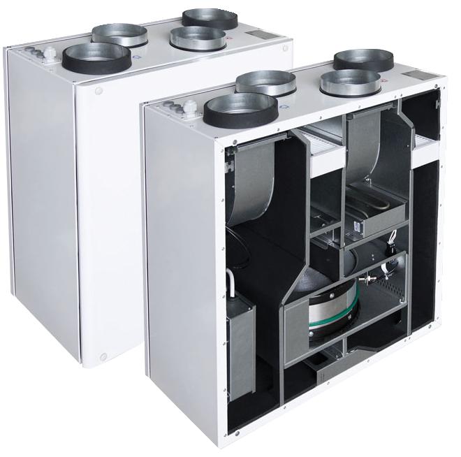 Компактные приточно-вытяжные установки с роторным рекуператором SMARTY 2R VER/VEL