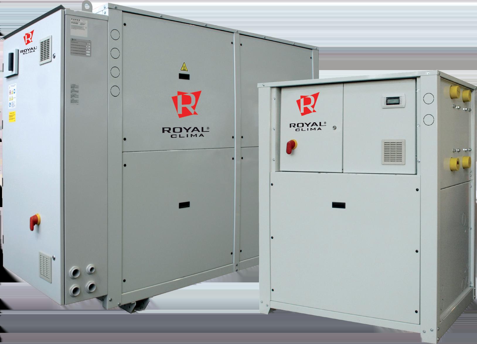 Чиллеры со спиральными компрессорами с водяным охлаждением конденсатора, бесконденсаторные серии DVA-12