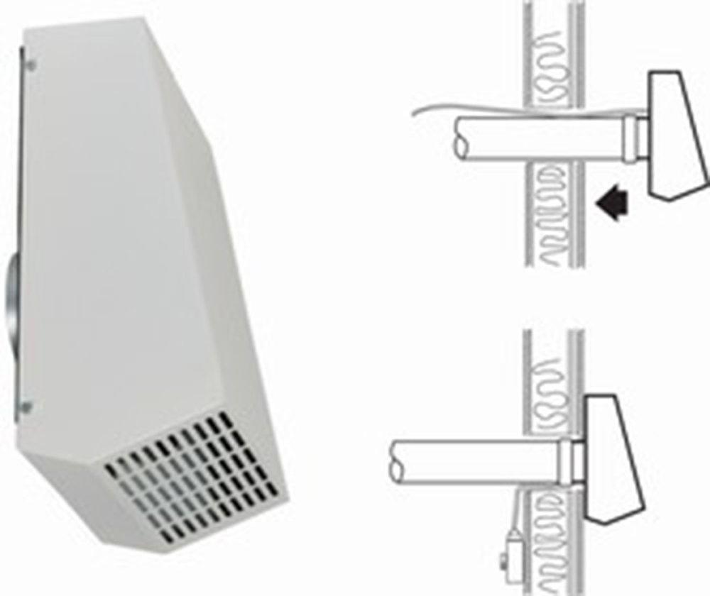Канальный вентилятор RVF 100 M Wall fan